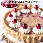 Orange Cranberry Vegan Pie with Macadamia Crust-3