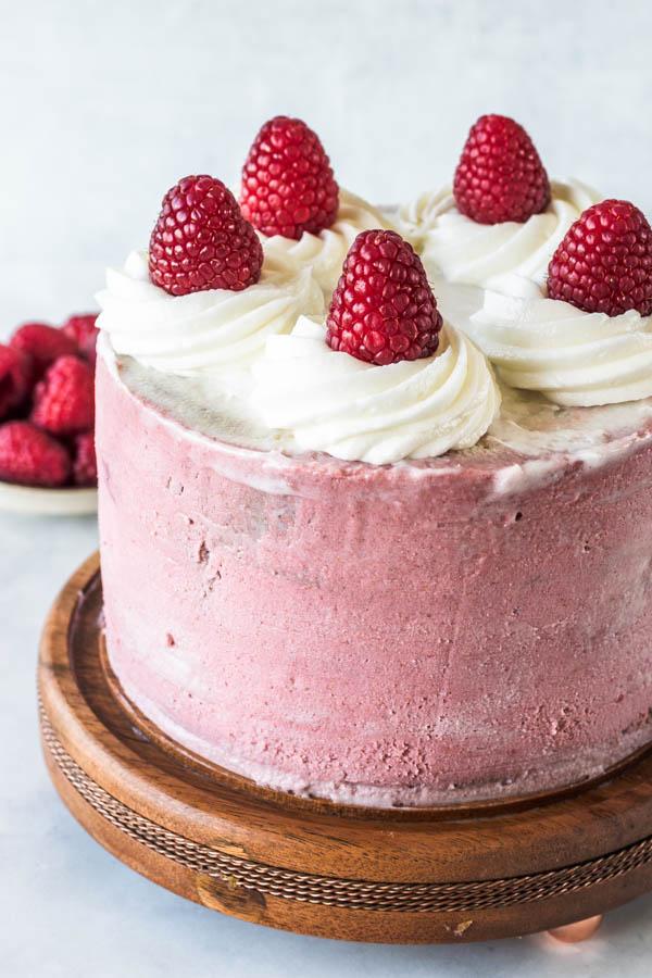 Raspberry Vegan Cake