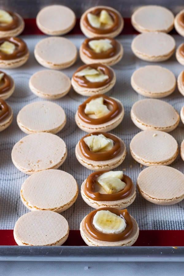 Banoffee Macarons