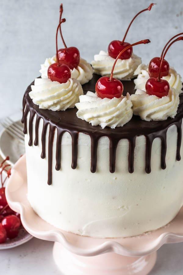Hot Fudge Sundae Vegan Cake