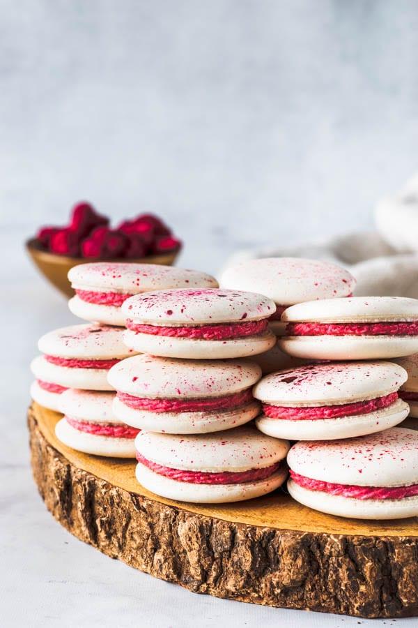 Vegan Raspberry Macarons