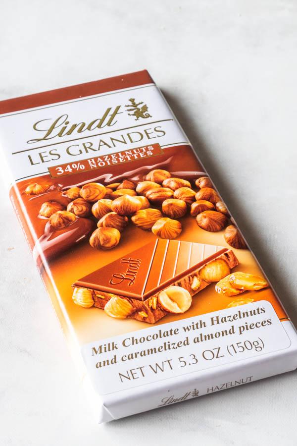 lindt hazelnut chocolate for mousse cake