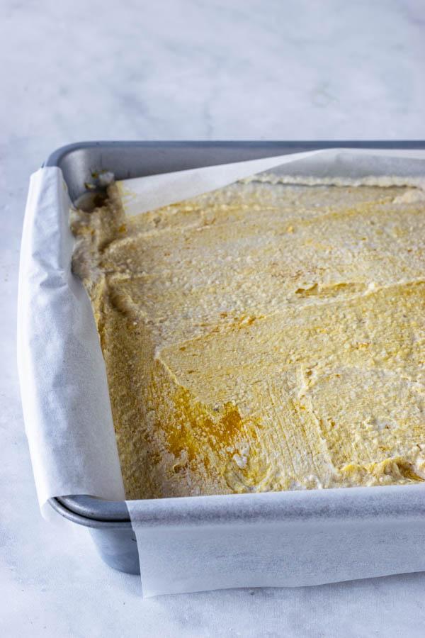 mango vegan cheesecake bars