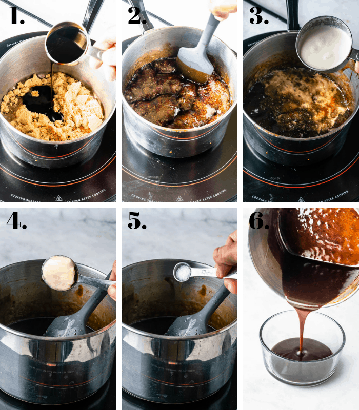 steps on how to make balsamic caramel sauce