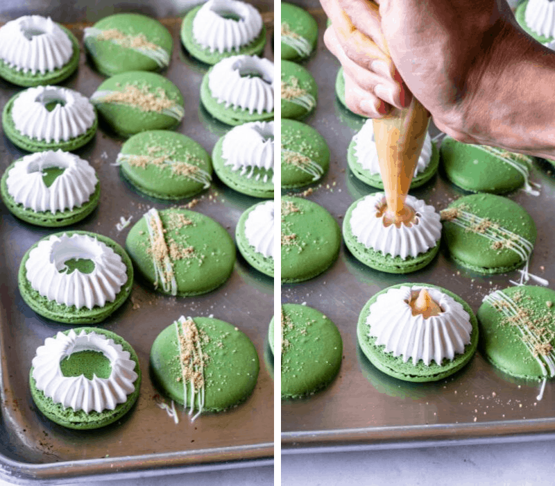 filling key lime pie macarons