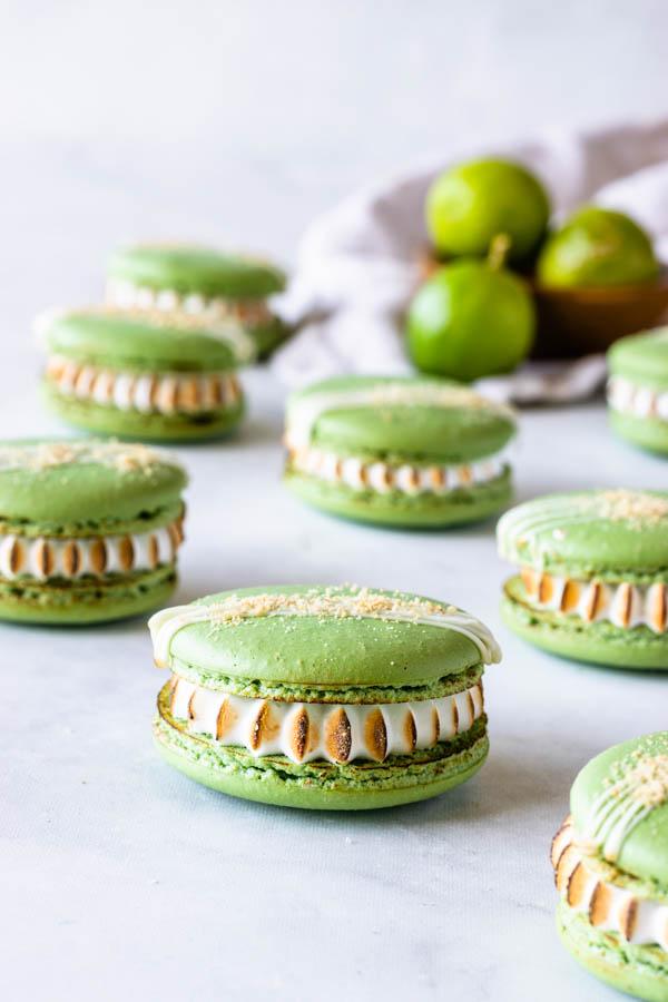 key lime pie macarons