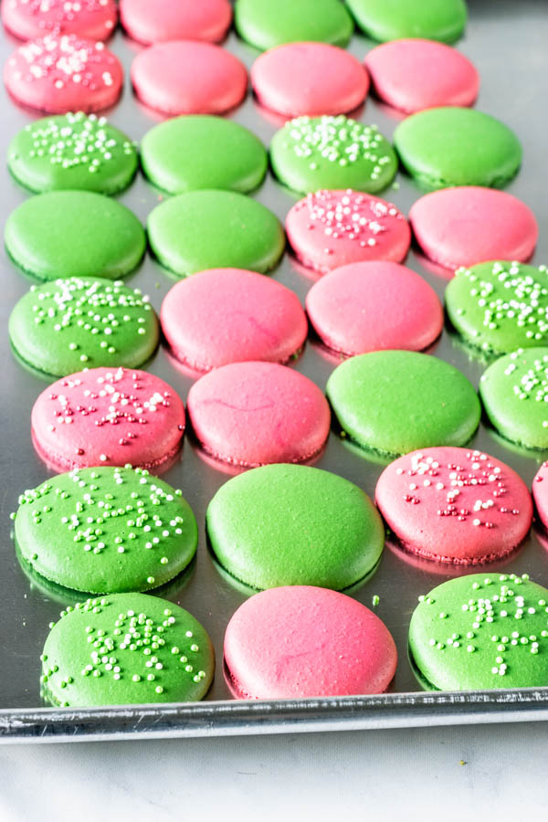 macaron shells two different colors
