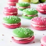 Key Lime Raspberry Macarons