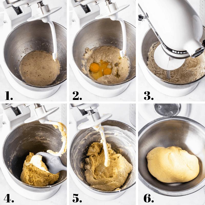 making donut dough