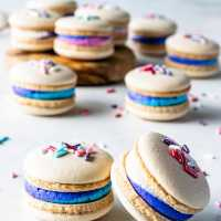 Vegan Vanilla Macarons with Sprinkles (plus video)
