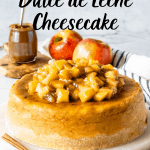 Apple Dulce de Leche Cheesecake