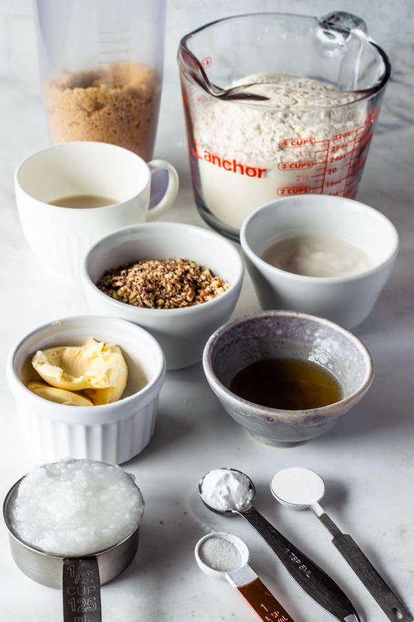 ingredients to make vegan pecan cookies