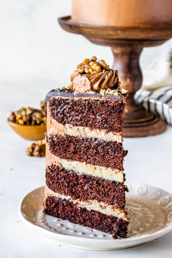 Walnut Chocolate Cake