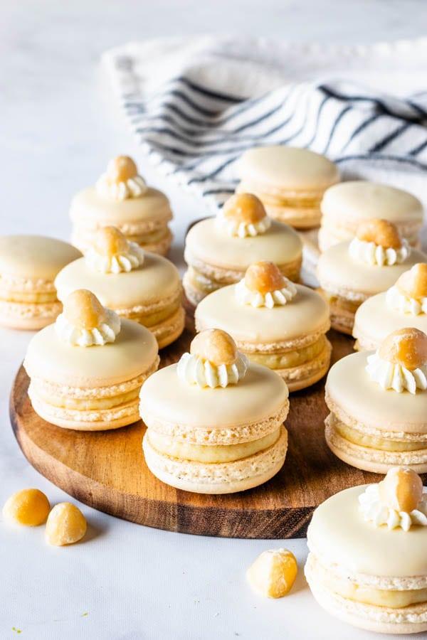 White Chocolate Macadamia Macarons