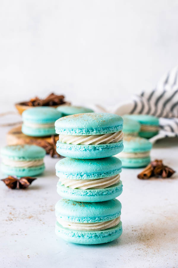 3 stacked macarons