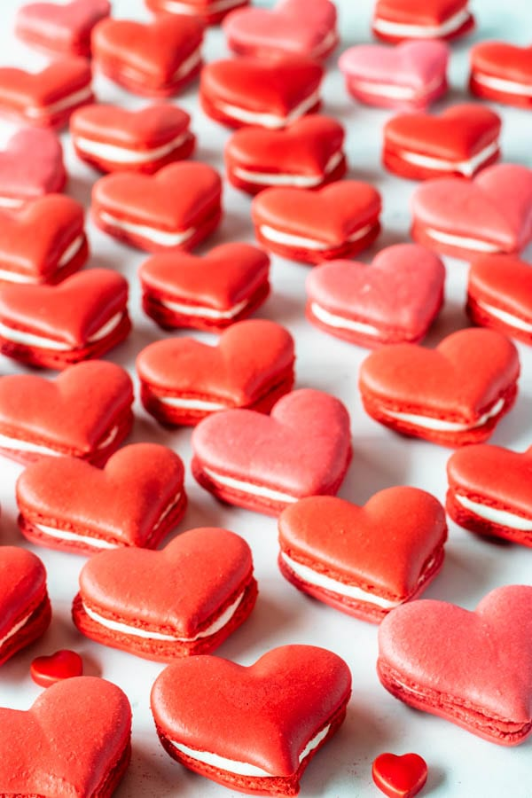 Heart Shaped Macarons