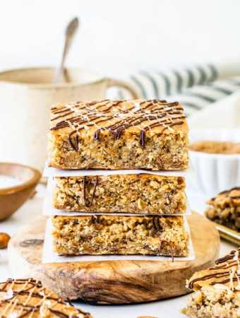 Vegan Almond Butter Oat Bars