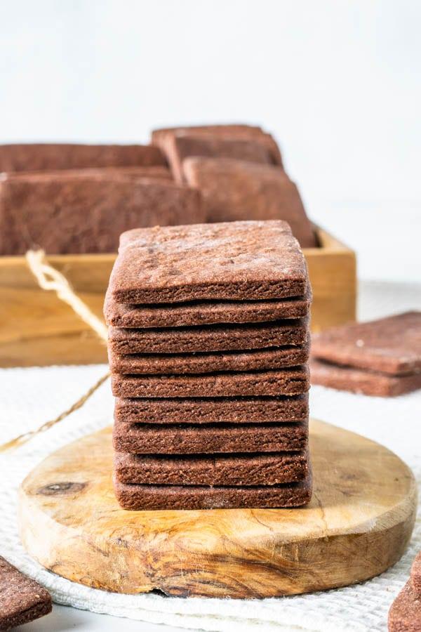 Chocolate Sugar Cookie stack