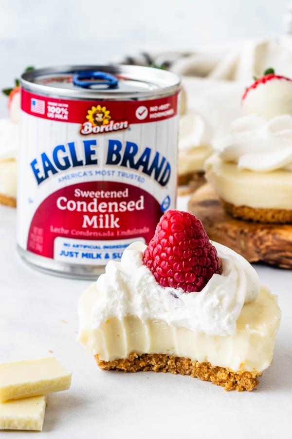 No-Bake White Chocolate Cheesecake bite