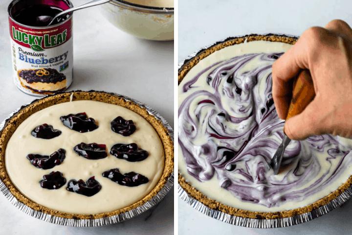 steps on how to make no-bake cheesecake