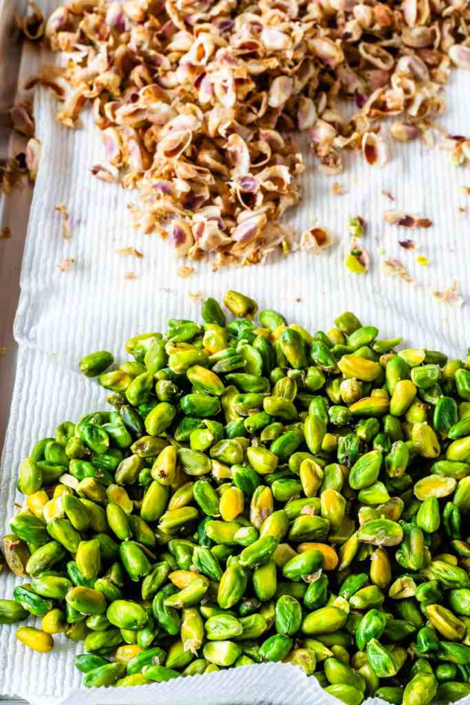 removing skins from pistachios