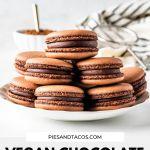 Vegan Chocolate Macarons