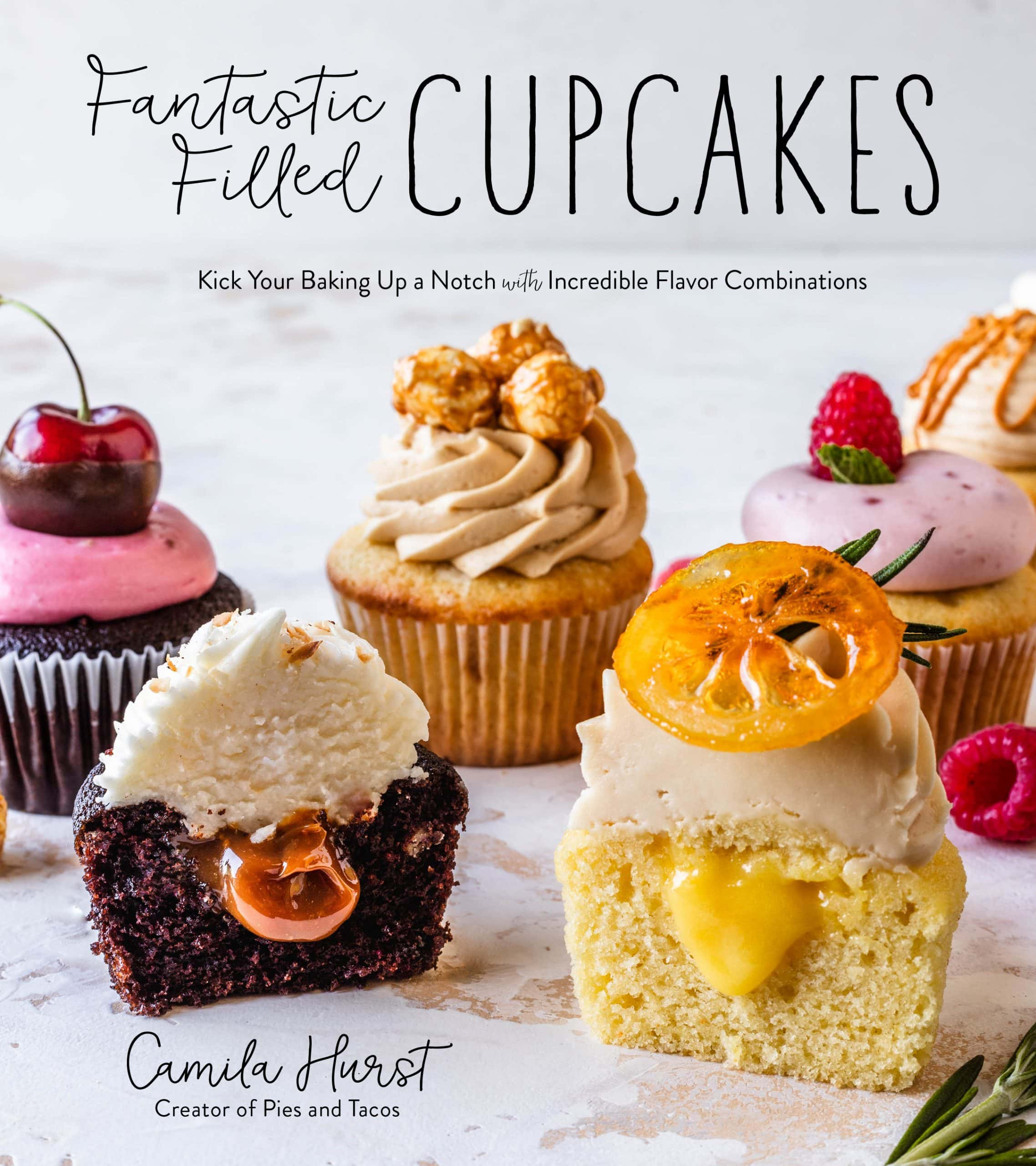 Fantastic Filled Cupcakes cookbook cover.