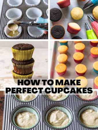 tips on how to make perfect cupcakes collage.