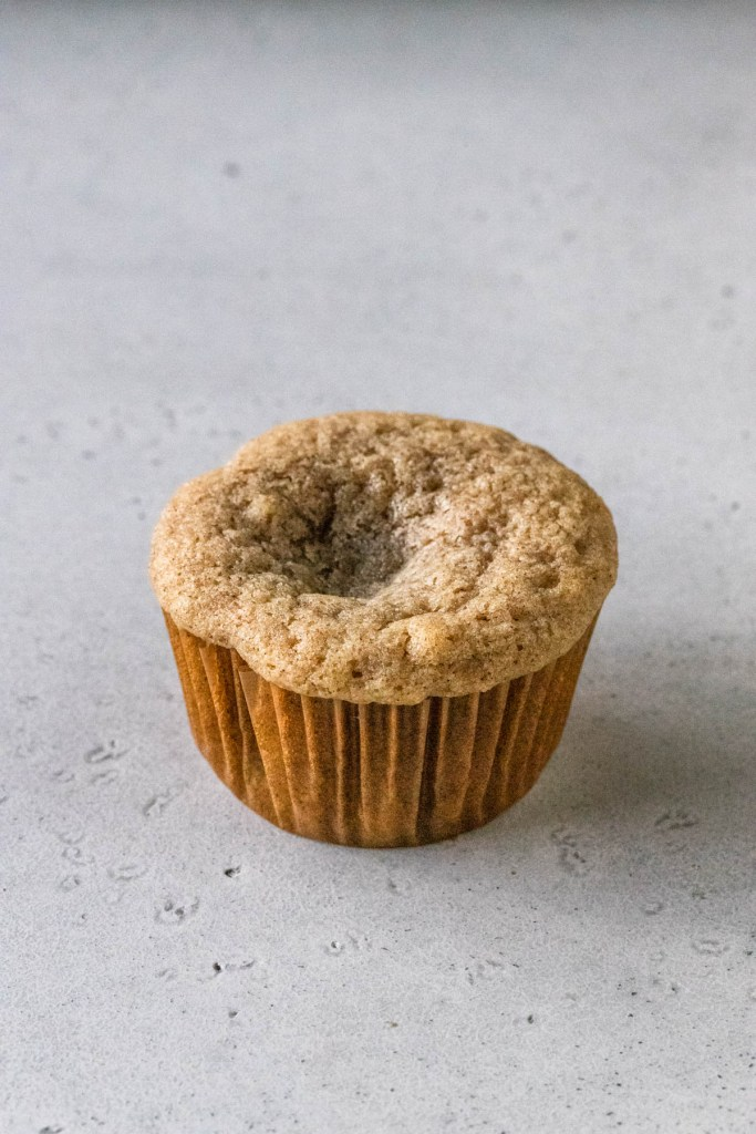 cupcake sunk in the middle.