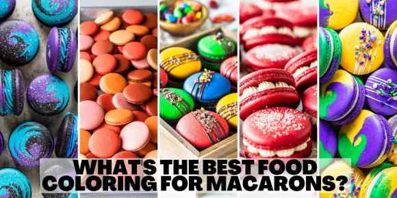 What's the best food coloring for macarons title with 5 images of colorful macarons.