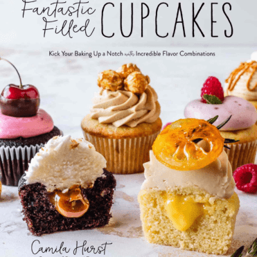 cover for Fantastic Filled Cupcakes book.