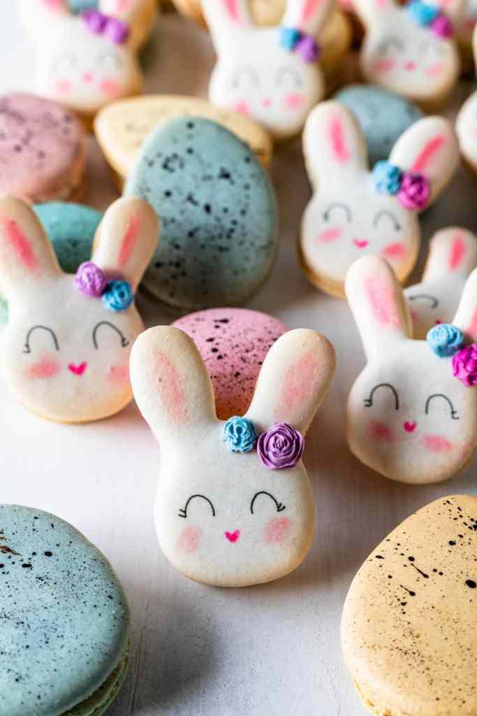Bunny Macarons and robin's eggs macarons.