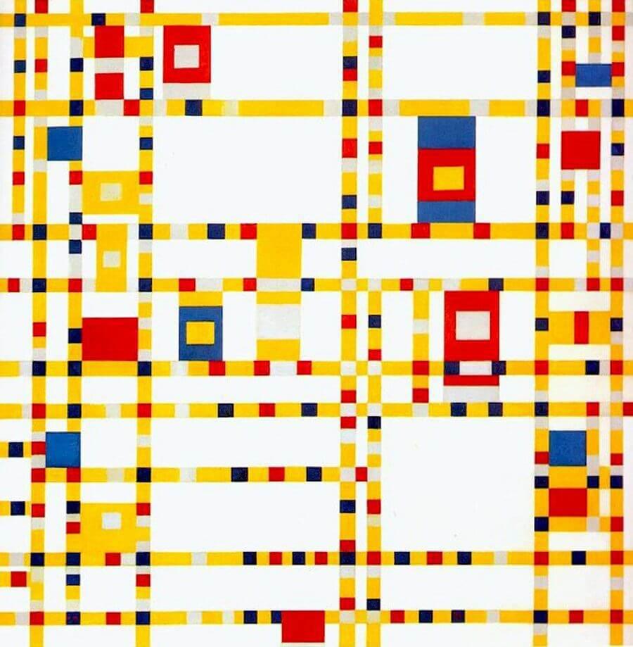 Broadway Boogie-Woogie, 1942 by Piet Mondrian