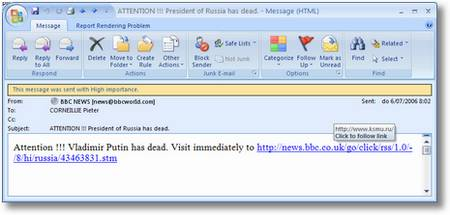 President of Russia has dead
