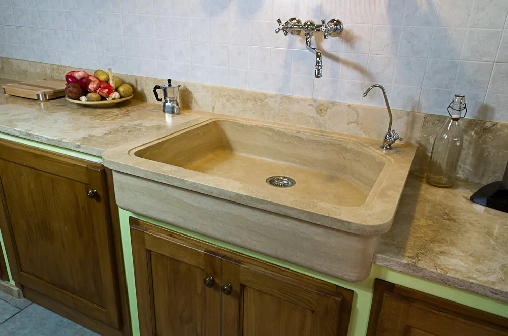 stone kitchen sinks pietre di rapolano tuscany travertine
