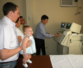 Dot. Del Poggio nel test delle apparecchiature sanitarie