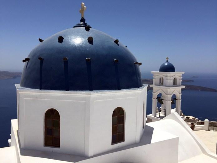 cupole blu firostefani