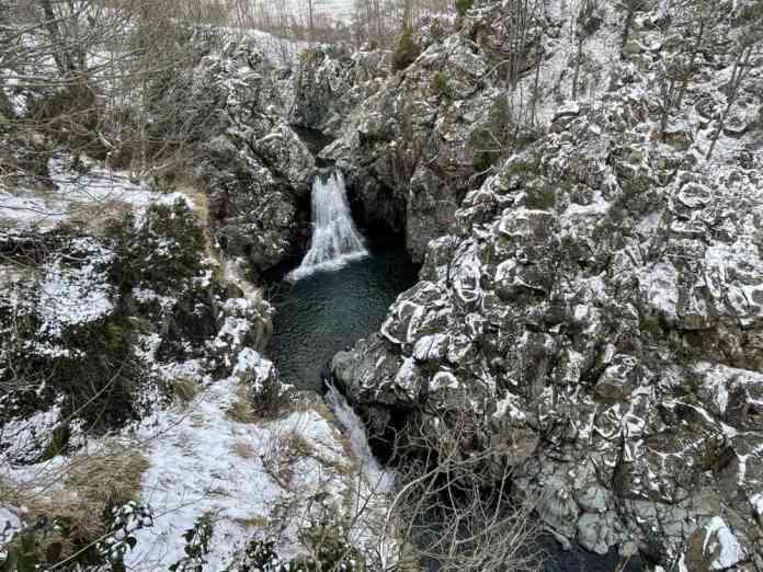 valle stura genova cascata serpente