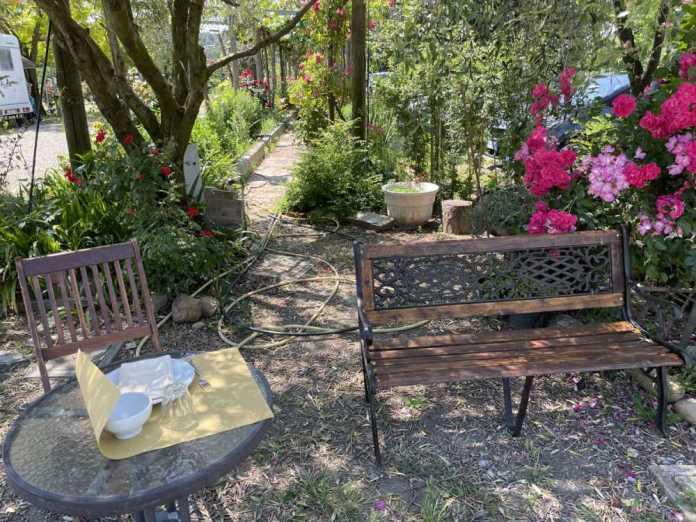tavolo fiori agriturismo
