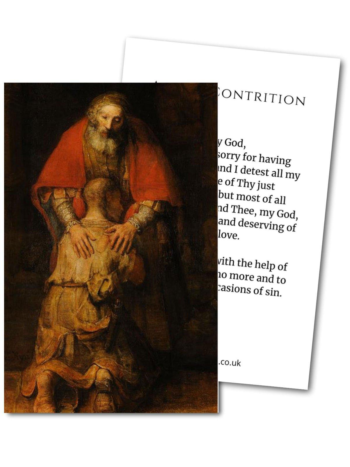 White Little Guest Prayer Card