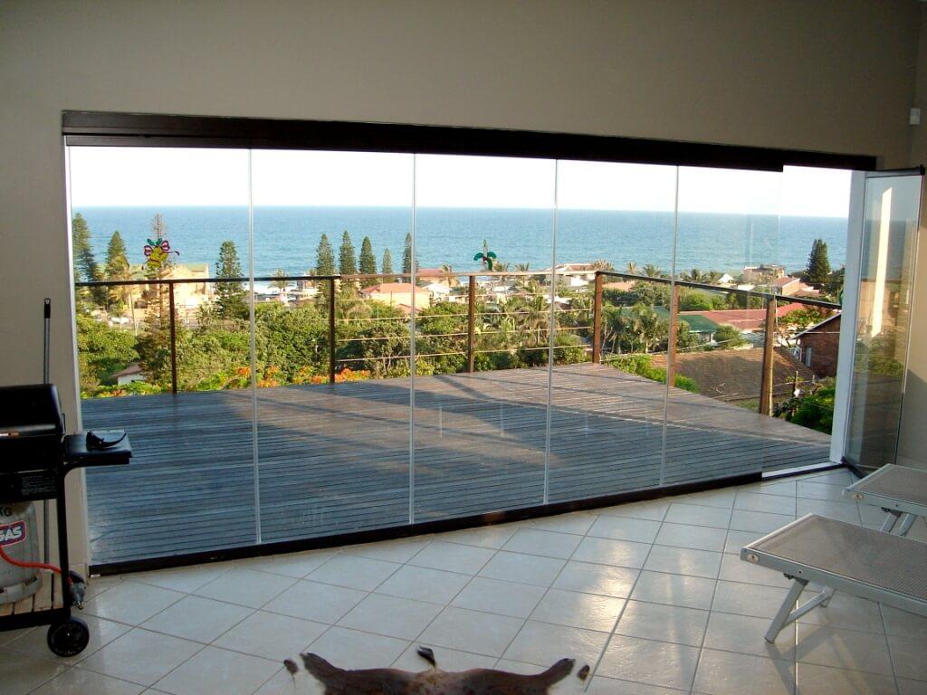 Glas Faltwand Ganzglas Schiebe System Balkonverglasung Und