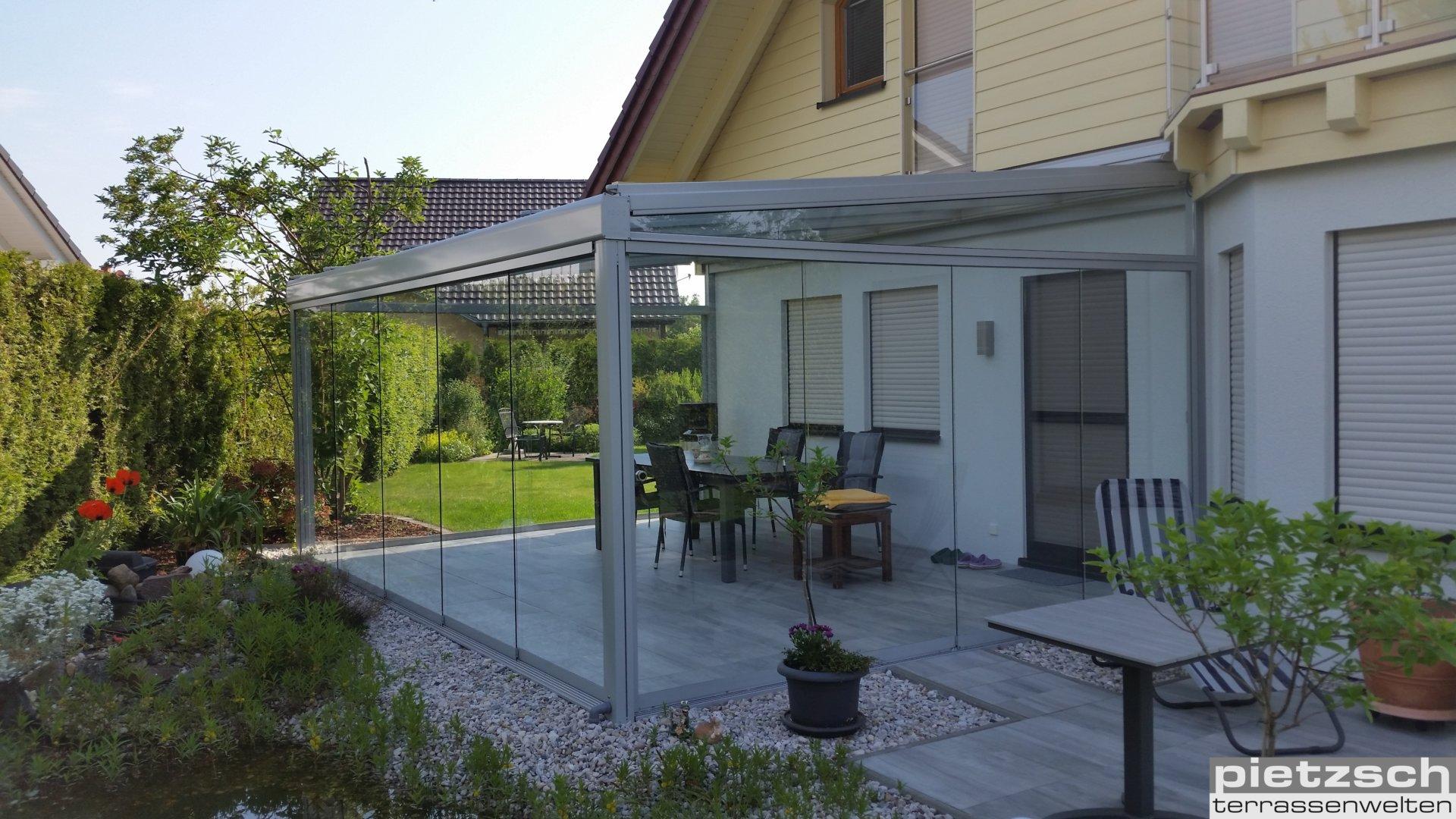 Terrassenüberdachung, Wintergarten, Kaltwintergarten, Glasdach, Sommergarten, Schiebeverglasung, Glasschiebewand