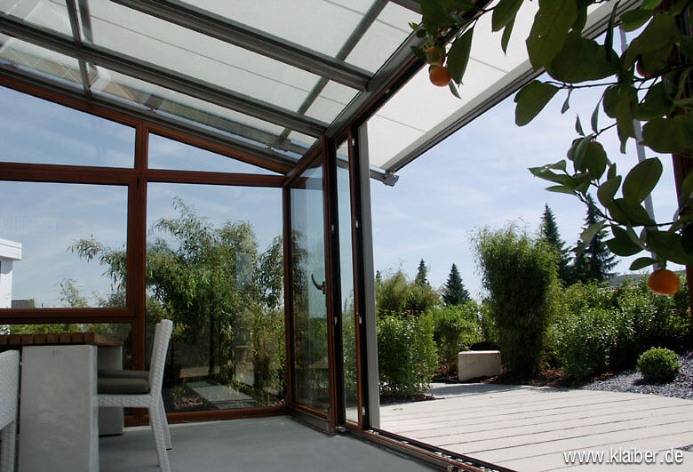 Mit einem Wintergarten erweitern Sie Ihren Wohnraum und erhöhen die Energiebilanz Ihres Hauses.