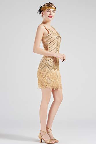 ArtiDeco 1920s Flapper Dress Fringed Sequin Dress Roaring ...