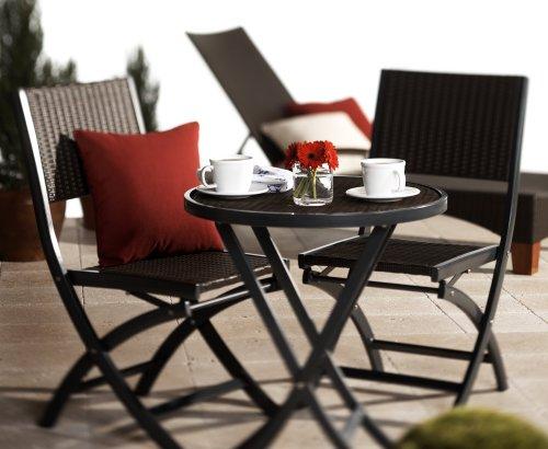 strathwood ritta ensemble table et chaises de jardin style bistro en resine tressee resistante aux intemperies