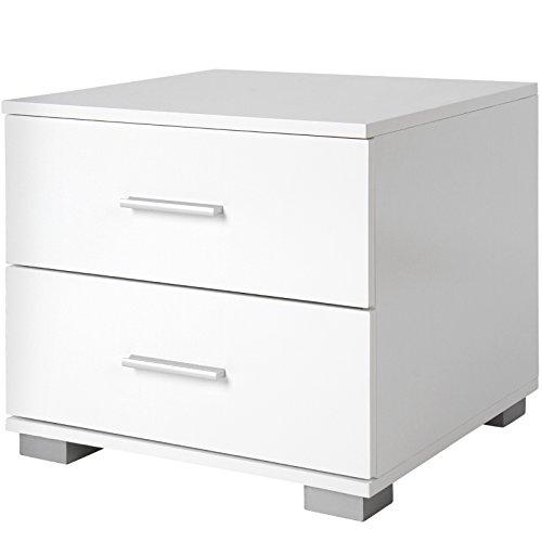 miadomodo lot de 2 tables de chevet avec tiroirs 40 x 40 x 35 cm 3 coloris au choix