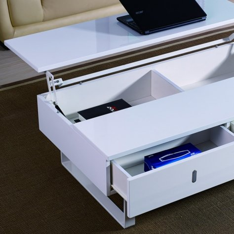 table basse laque blanc relevable mutifonction easy 0