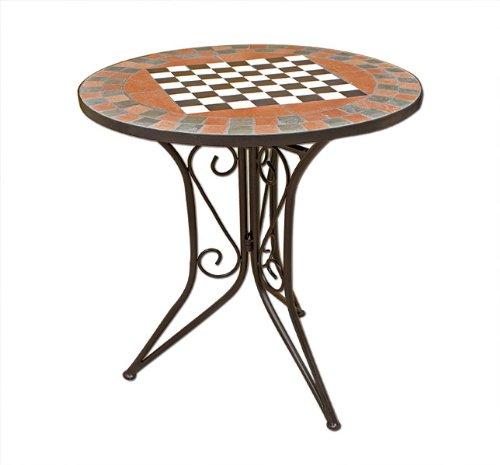 table gueridon mosaique avec plateau echec table de jardin petite table appoint