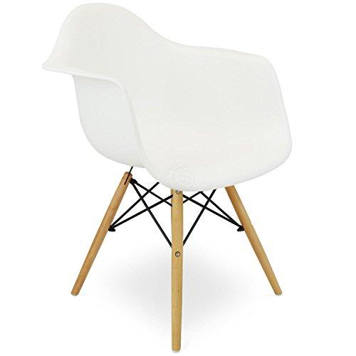 chaise pour enfants inspiree tour eiffel fauteuil plastique blanc 1 unite