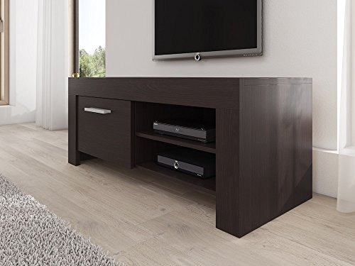 meuble tv armoire support rome chene fonce wenge 120 cm